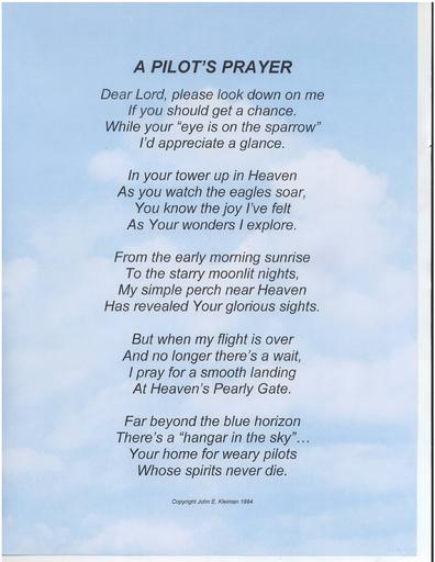A Pilot's Prayer by John E. Kleiman