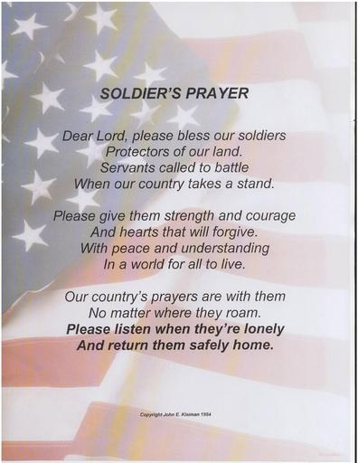 A Soldier's Prayer by John E. Kleiman 1984